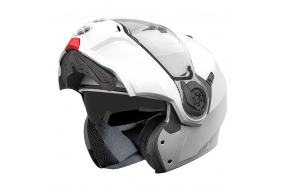 CABERG CASQUE MODULABLE DROID UNI BLANC METALISE