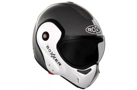 ROOF Casque modulable BOXXER FACE METAL/BLANC NACRE