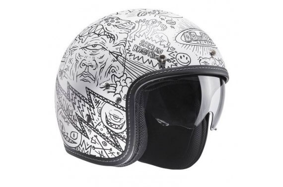 HJC Casque JET FG-70S MACHU MC10SF