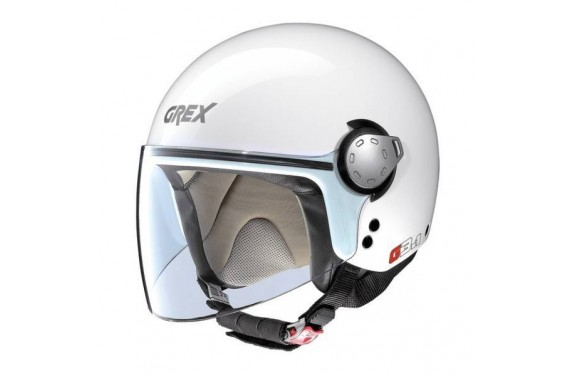 GREX CASQUE JET G3.1 KINETIC METAL WHITE