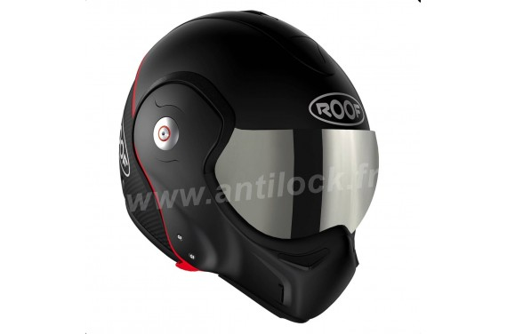 ROOF Casque modulable BOXXER CARBON NOIR MAT + ECRAN IRIDIUM