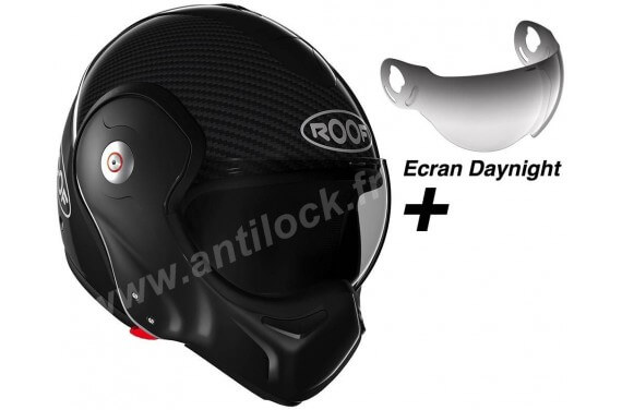 ROOF Casque modulable BOXXER CARBON NOIR BLACK + ECRAN DAYNIGHT