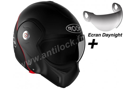 ROOF Casque modulable BOXXER CARBON NOIR MAT + ECRAN DAYNIGHT