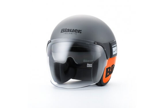 BLAUER CASQUE JET POD TITANE ORANGE MAT
