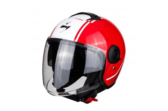 SCORPION CASQUE EXO CITY AVENUE ROUGE BLANC