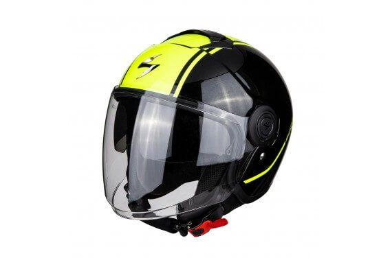 SCORPION CASQUE EXO CITY AVENUE NOIR METAL JAUNE