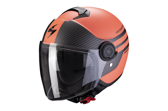 SCORPION CASQUE EXO CITY MODA CORAIL MAT NOIR