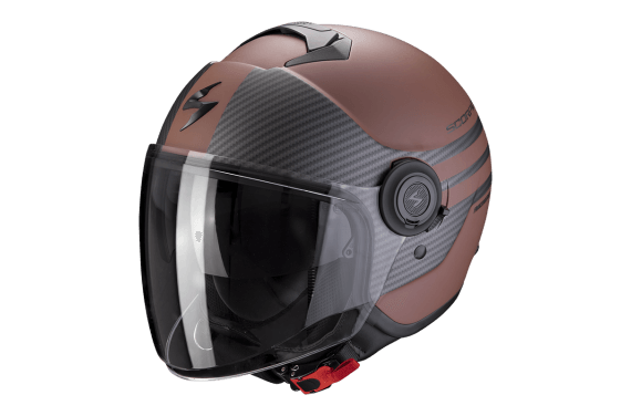 SCORPION CASQUE EXO CITY MODA MARRON MAT NOIR
