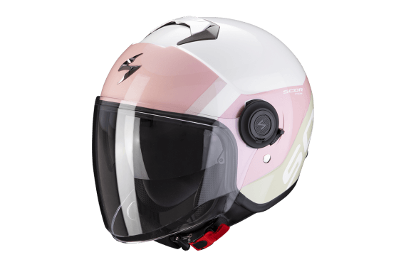 SCORPION CASQUE EXO CITY SYMPA BLANC CORAIL ROSE