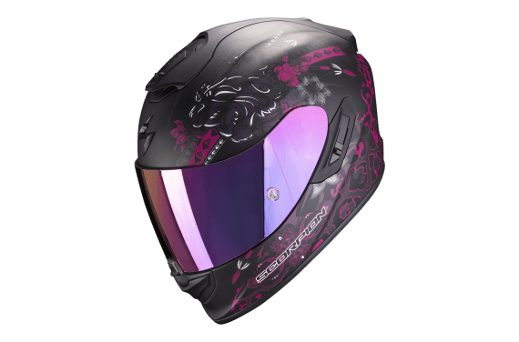 SCORPION CASQUE EXO 1400 AIR TOA NOIR MAT ROSE