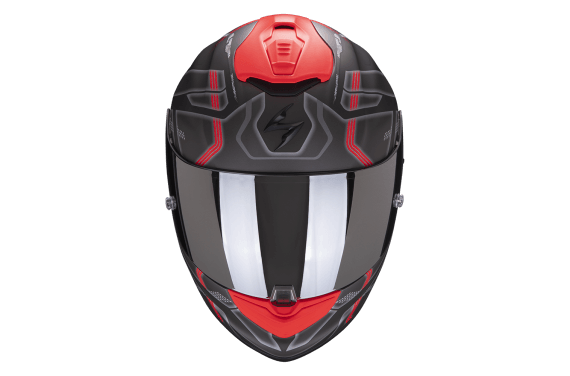 SCORPION CASQUE EXO 1400 AIR SPATIUM GRIS MAT ROUGE
