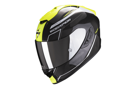 SCORPION CASQUE EXO 1400 CARBON AIR BEAUX NOIR JAUNE BRILLANT