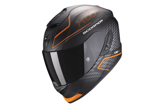 SCORPION CASQUE EXO 1400 AIR GALAXY ORANGE MAT