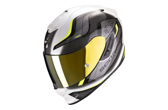 SCORPION CASQUE EXO 1400 AIR ATTUNE BLANC NEON JAUNE