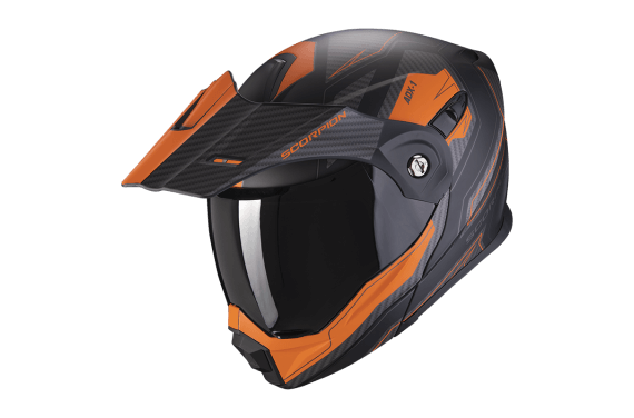 SCORPION CASQUE ADX-1 TUCSON NOIR MAT ORANGE