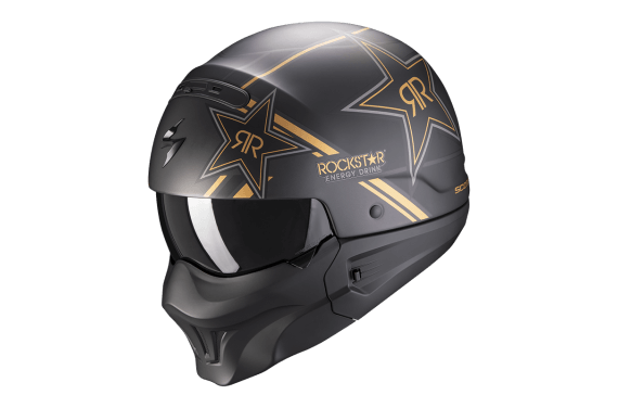 SCORPION CASQUE EXO COMBAT EVO ROCKSTAR OR