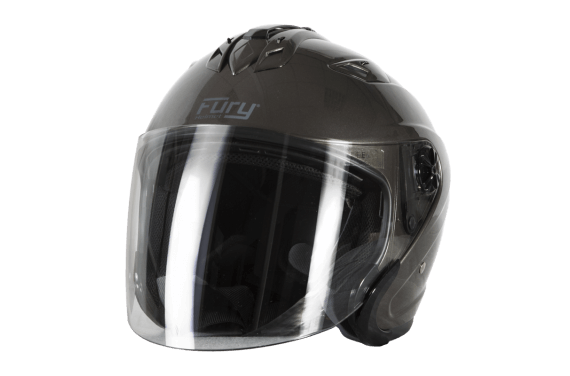 FURY CASQUE JET SPIKE DARK SILVER GRIS