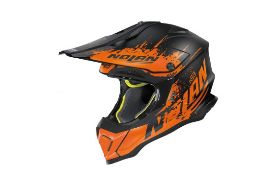 NOLAN CASQUE CROSS N53 SAVANNAH NOIR ORANGE MAT