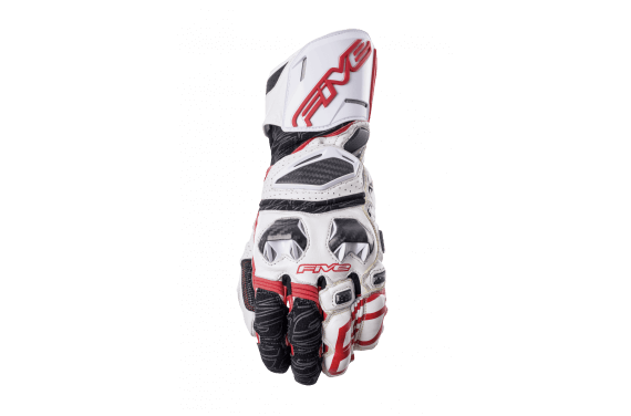 FIVE GANTS RFX RACE BLANC ROUGE