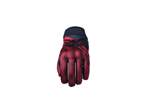 FIVE GANTS GLOBE REPLICA INSIGNIA CHECK ROUGE