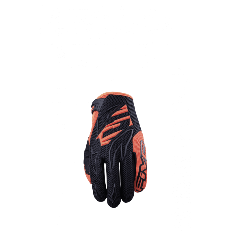 FIVE GANTS MXF3 ENFANT NOIR ORANGE