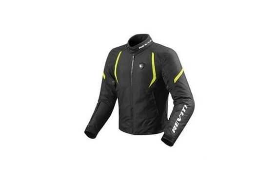 REV'IT BLOUSON TEXTILE JUPITER 2 NOIR/JAUNE NEON