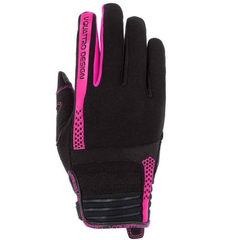 VQUATTRO RUSH 18 GLOVES LADY- PHONE TOUCH BLACK/PINK