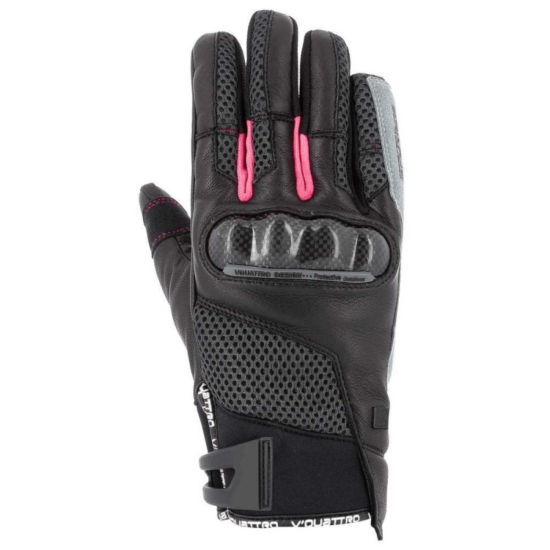 VQUATTRO SP 18 GLOVES LADY- PHONE TOUCH BLACK/PINK