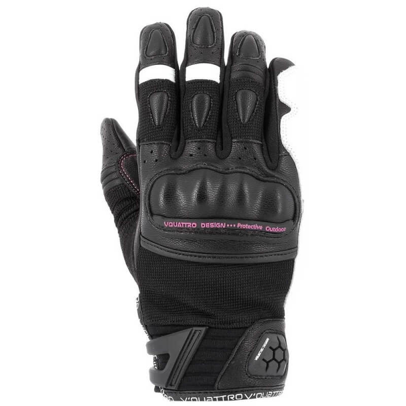 VQUATTRO ROAD STAR GLOVES LADY-PHONE TOUCH BLACK/WHITE