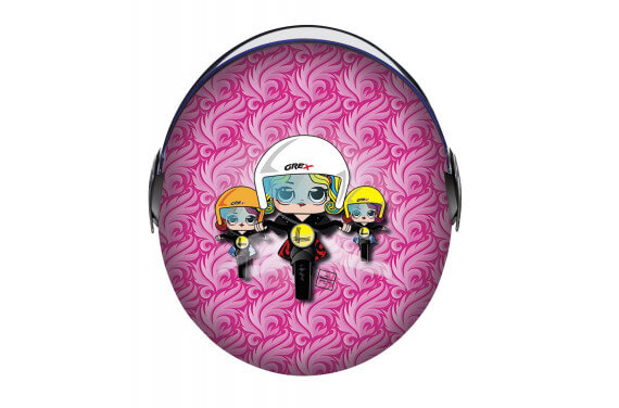 GREX CASQUE JET ENFANT G1.1 ARTWORK LADY BIKER