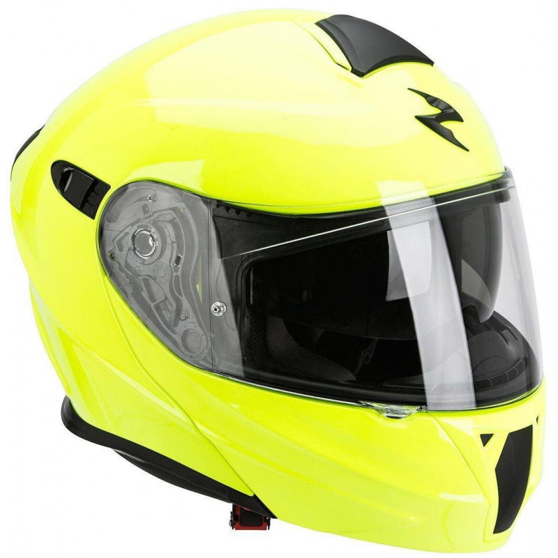 SCORPION Casque Modulable Exo 920 Solid Jaune Fluo