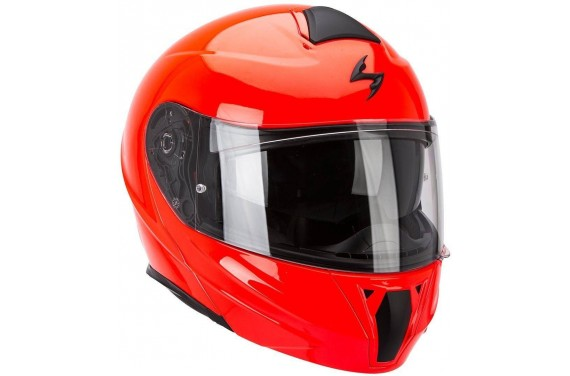 SCORPION Casque Modulable Exo 920 Solid Rouge Fluo