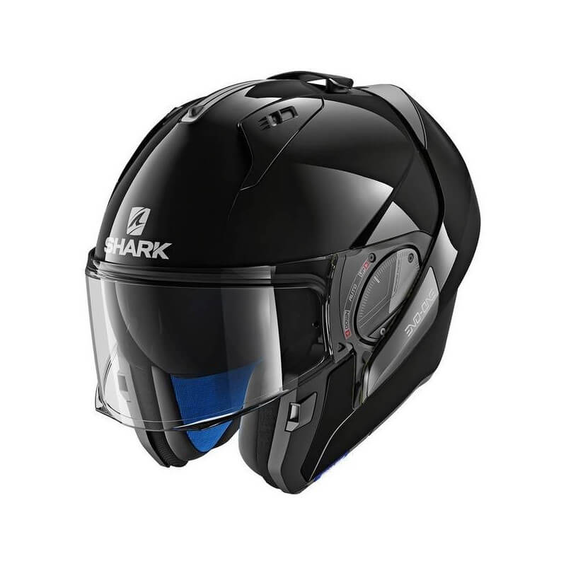 SHARK Casque Modulable Evo One 2 Blank NOIR BRILLANT