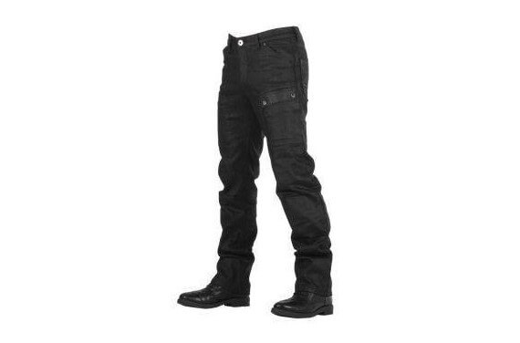 STURGIS BLACK WAXED JEANS Homologated ALL ROAD