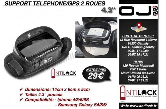 Support Telephone/GPS OJ Universel Etanche/tactile