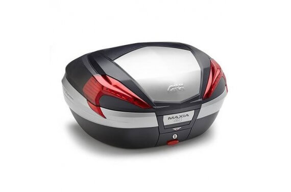 GIVI TOP CASE 56LT MKEY NOIR + ALU + CATA ROUGES