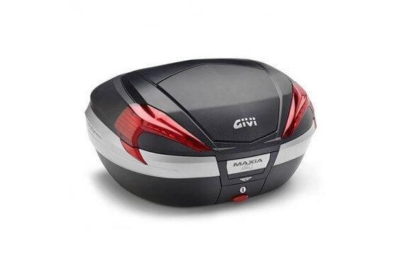 GIVI TOP CASE 56LT MKEY NOIR + CAR + CATA ROUGES