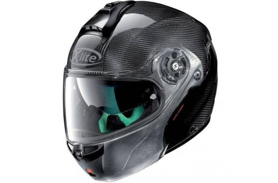 X-LITE CASQUE MODULABLE X1004 ULTRA CARBON DYAD SCRATCHED CHROME