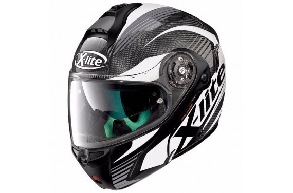 X-LITE CASQUE MODULABLE X1004 ULTRA CARBON NORDHELLE WHITE