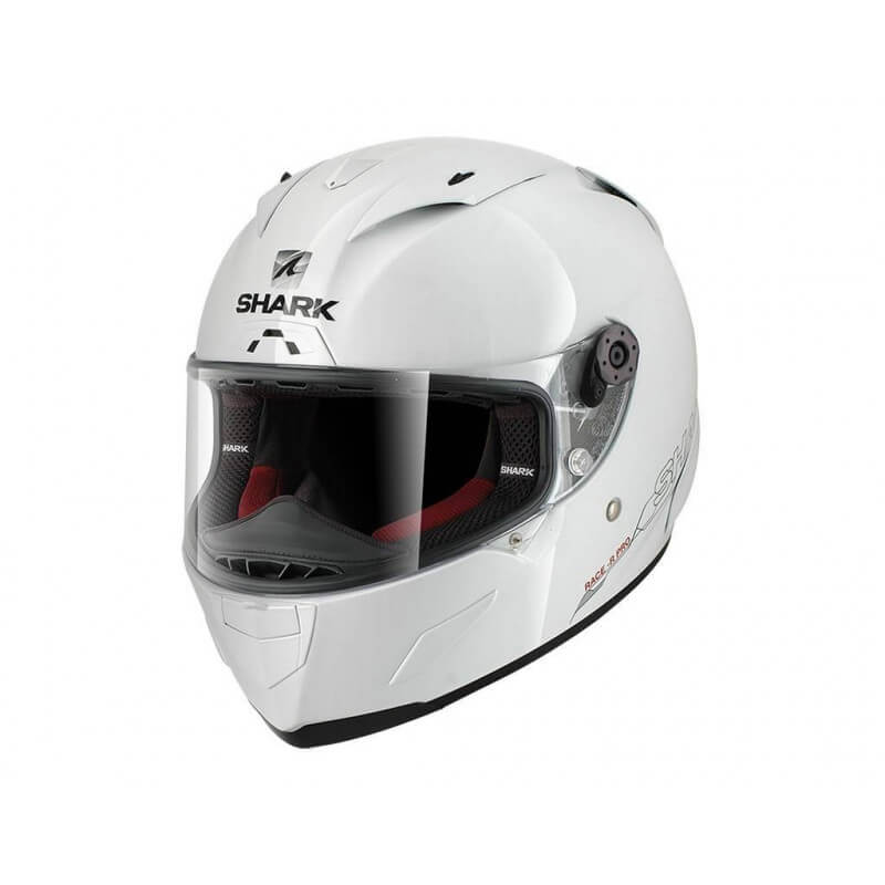 SHARK CASQUE RACE-R PRO BLANK WHITE AZUR