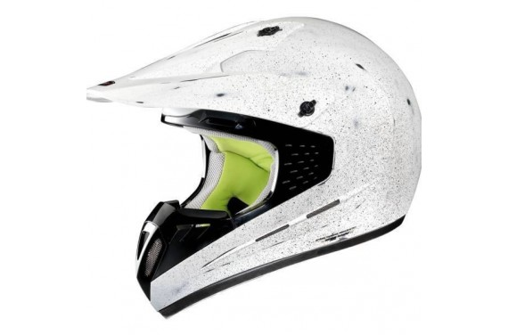 CASQUE GREX INTEGRAL G5.1 SCRAPING SCRAPED FLAT WHITE