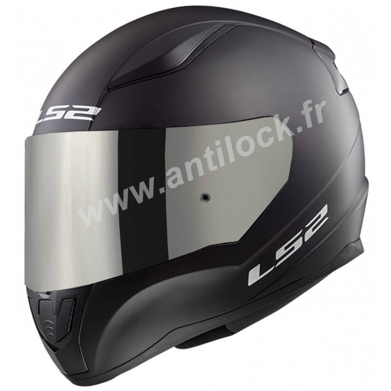 CASQUE INTEGRAL LS2 FF353 RAPID SOLID NOIR BLACK MATT + ECRAN MIROIR IRIDIUM