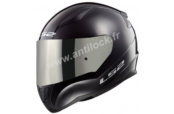 CASQUE INTEGRAL LS2 FF353 RAPID SOLID NOIR BLACK + ECRAN MIROIR IRIDIUM