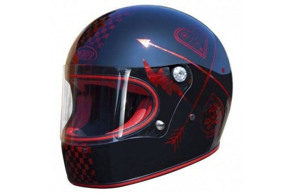 PREMIER CASQUE INTEGRAL MX NX RED CHROMED