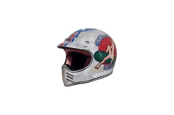 PREMIER CASQUE INTEGRAL MX PIN UP OLD STYLE SILVER