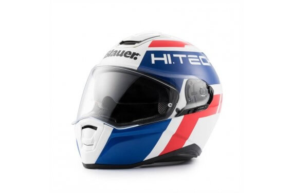 Casque INTEGRAL Blauer Force One 800 Blanc/Bleu/Rouge Brillant