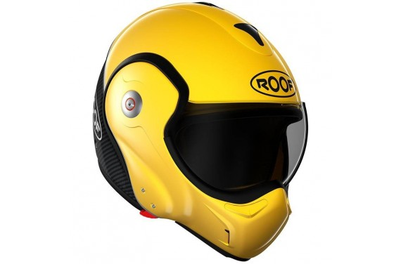 ROOF Casque modulable BOXXER CARBON JAUNE YELLOW