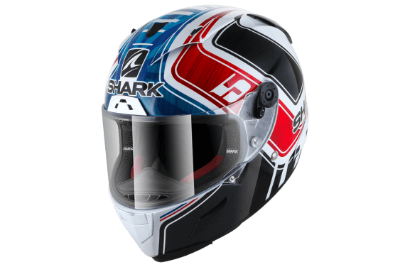 SHARK CASQUE INTEGRAL RACE-R PRO ZARCO GP FRANCE WHITE BLUE RED