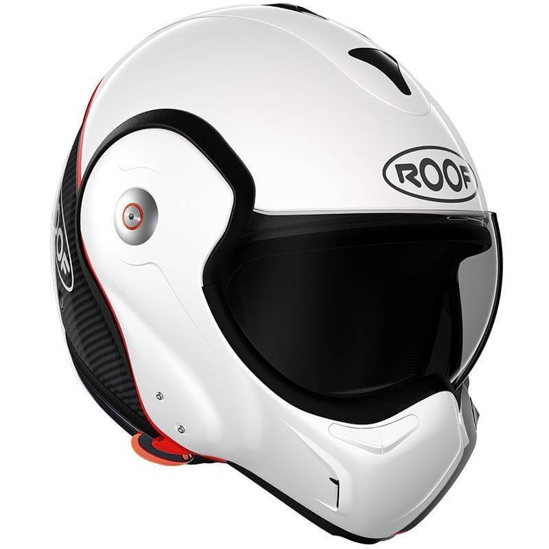 ROOF Casque modulable BOXXER CARBON BLANC NACRÉ