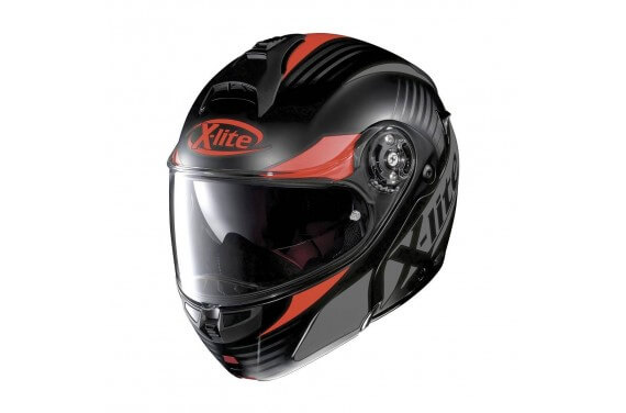 X-LITE CASQUE MODULABLE X1004 NORDHELLE N-COM FLAT BLACK/RED